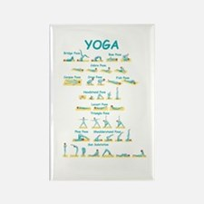 Yoga Poses Rectangle Magnet (10 pack)