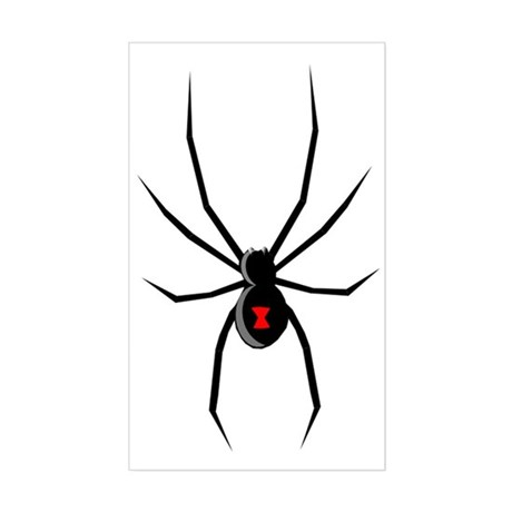 Black Widow Spider Silhouette