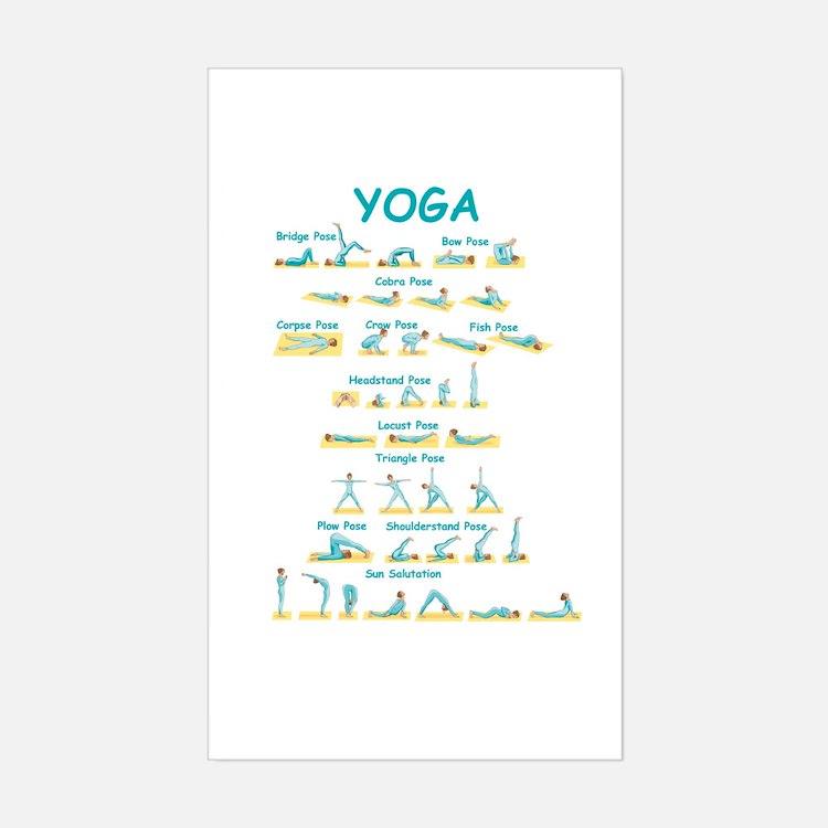 Yoga Poses Rectangle Decal