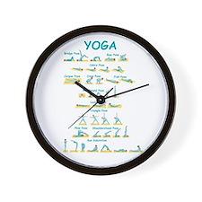 Yoga Poses Wall Clock