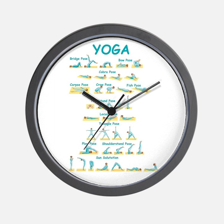 Yoga Poses Wall Clock