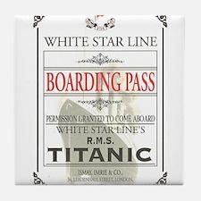 Unique Titanic Tile Coaster