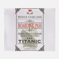 Cute Titanic Throw Blanket