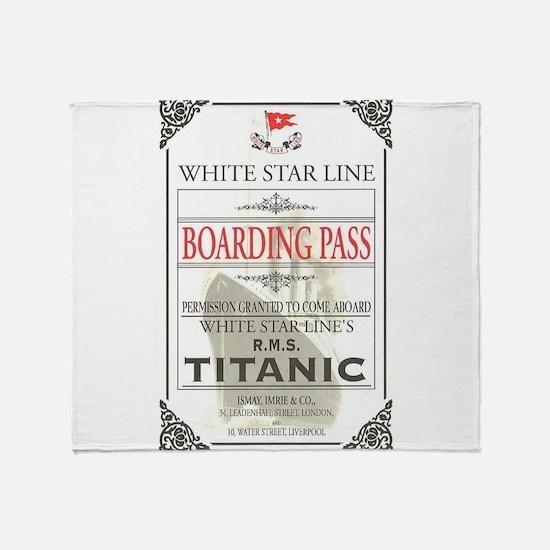 Cute Titanic Throw Blanket
