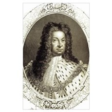 George I. 1714-1727. Engraving. Poster