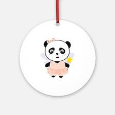 Panda Fairy in costume Round Ornament