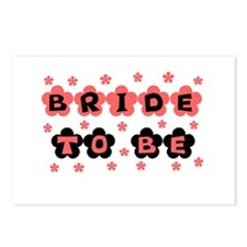 Coral Bride to Be Postcards (Package of 8)