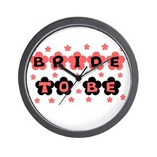 Coral Bride to Be Wall Clock