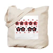 Coral Bride to Be Tote Bag