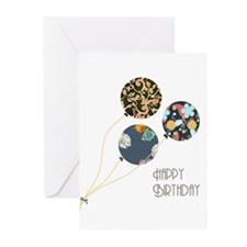 Happy Birthday Balloons Greeting Cards