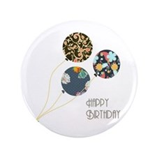 "Happy Birthday Balloons 3.5"" Button"