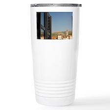 Seafront with historic  Travel Mug
