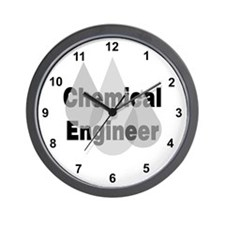 Gray Chemical Engineer Wall Clock