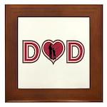 Dad Heart Framed Tile