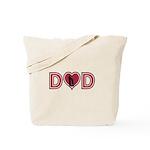 Dad Heart Tote Bag