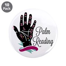 """Palm Reading 3.5"""" Button (10 pack)"""