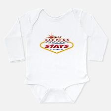 Cute What happens Long Sleeve Infant Bodysuit