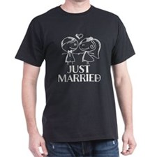 Just Married chalk drawing T-Shirt