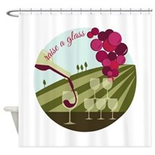 Raise a Glass Shower Curtain