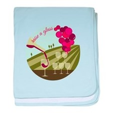 Raise a Glass baby blanket