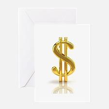 Dollar Sign Greeting Cards