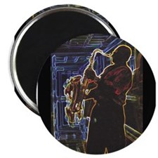 "Glowing Sax 2.25"" Magnet (10 pack)"