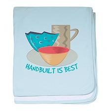 Handbuilt Is Best baby blanket