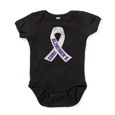 Cure Alzheimers Ribbon Baby Bodysuit