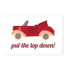 Put The Top Down! Postcards (Package of 8)