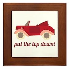 Put The Top Down! Framed Tile