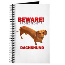 Beware Protected by a Dachshund Journal