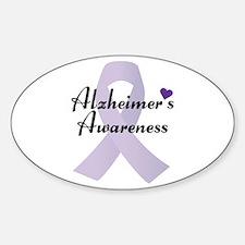 Alzheimers Awareness Ribbon Decal