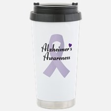 Alzheimers Awareness Ribbon Travel Mug