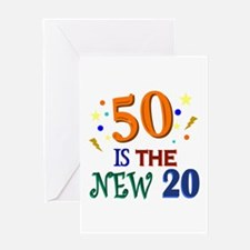 50 BIRTHDAY Greeting Card