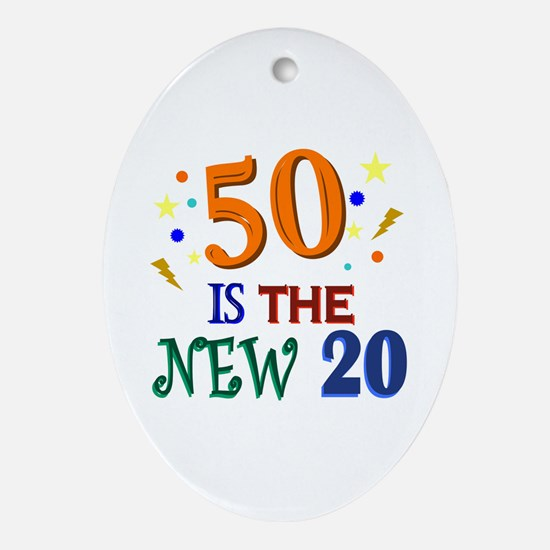 50 BIRTHDAY Ornament (Oval)