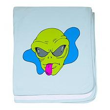 Silly Alien Razz baby blanket
