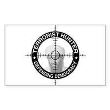 Terrorist Hunter Rectangle Decal