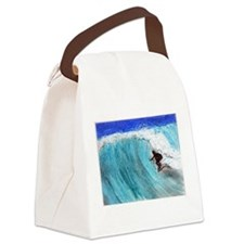 Surfer and Wave Canvas Lunch Bag