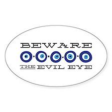 Beware Evil Eye Decal