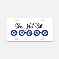 See No Evil Aluminum License Plate