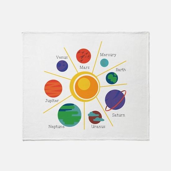 Planet Names Throw Blanket