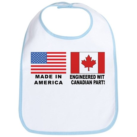 Engineered With Canadian Parts Bib