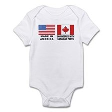Engineered With Canadian Parts Onesie