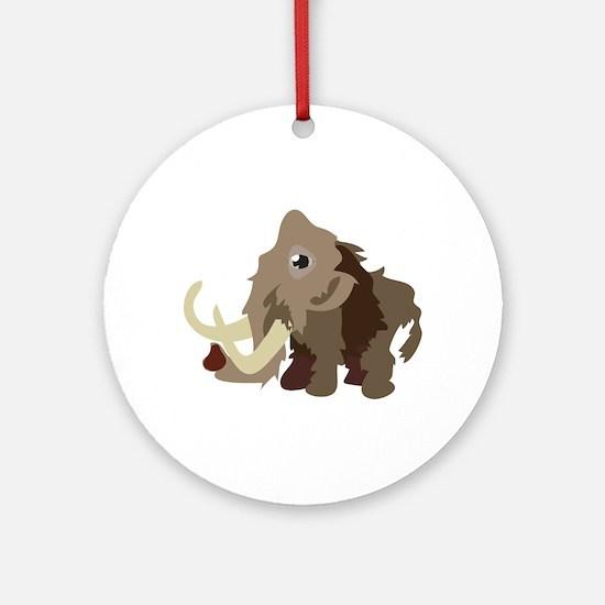 Mammoth Animal Ornament (Round)