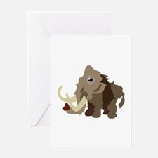 Mammoth Animal Greeting Cards