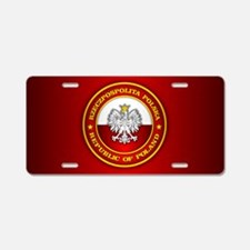 Polish Medallion Aluminum License Plate