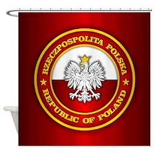 Polish Medallion Shower Curtain