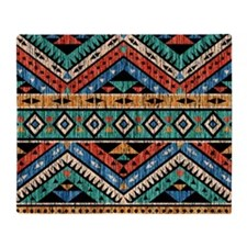 Vintage Aztec Pattern Throw Blanket