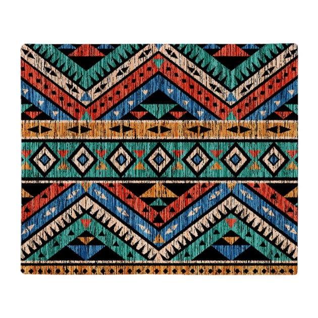 Vintage Aztec Pattern Throw Blanket by giftcy