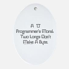 C Moral Oval Ornament